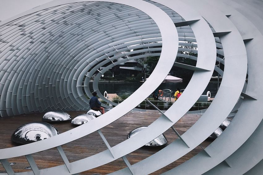 Built Structure Architecture Modern Day Pattern No People Shape Wheel Building Exterior Sport Geometric Shape Design Outdoors High Angle View Pipe - Tube Large Group Of Objects Tire Circle Cityscape People Architecture People Watching IPhoneography
