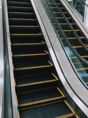 escalator Escalator EyeEm Selects Staircase Steps And Staircases Steps Indoors  Railing Modern Architecture Convenience Technology No People