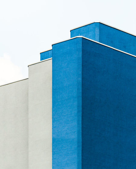 Minimalist Architecture Minimalobsession Minimal Cityscape Façade Geometric Architecture Urban Exploration Urban Geometry Architectural Column Architectural Feature Architecture Architecturelovers Block Blue Building Exterior Built Structure Geometric Abstraction Geometric Shape Lines And Shapes Striped Urbanphotography Colour Your Horizn The Architect - 2018 EyeEm Awards