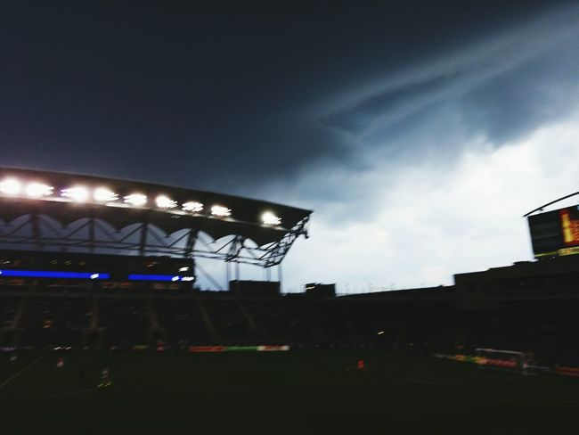 Storm over a soccer match