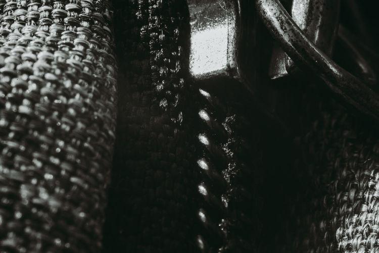 Detail shot of metallic structure