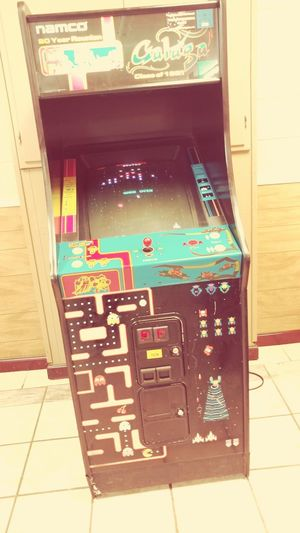 Classic Arcade Namco Pac Man. GALAGA  Games Old School Arcade Games Arcade Game Videogames First Eyeem Photo