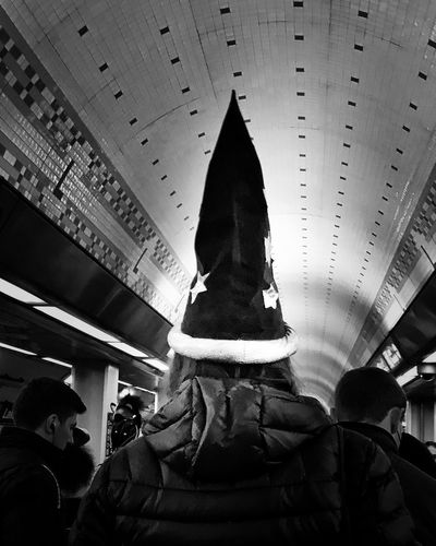 Scenes from the CTA Train Halloween edition Chicago Streetphotography Blackandwhite