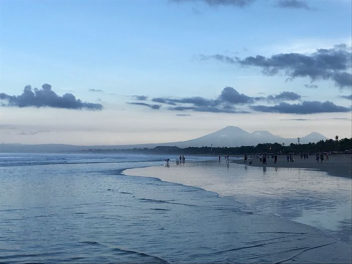 Sky Water Sea Beach Nature Cloud - Sky Morning Sky Morning Sky, Bali, Indonesia Kuta Beach Outdoors Beauty In Nature Scenics Blue Sunset The Great Outdoors - 2017 EyeEm Awards