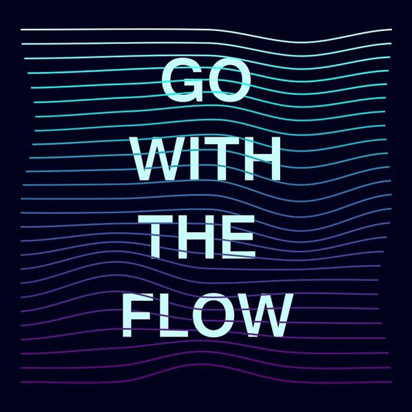 Gowiththeflow Illustration Typography Blues