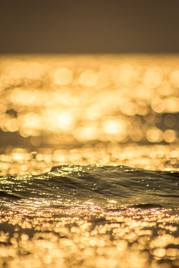 Reflection of sunlight on sea during sunset