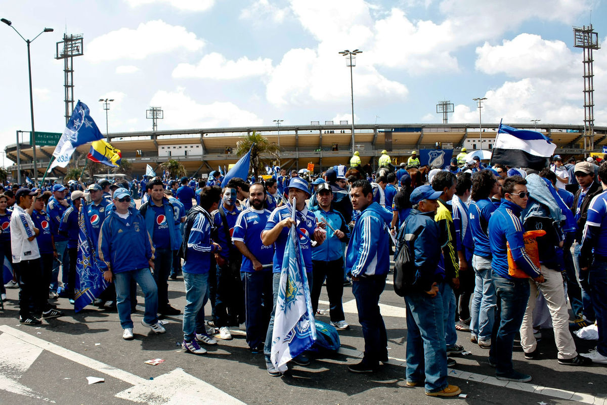 Bogotá City City Life Day Fan Fans Football Football Fans Football Fever Football Stadium Large Group Of People Leisure Activity Lifestyles Market Men MILLONARIOS FC Millos Person Sky Stadium