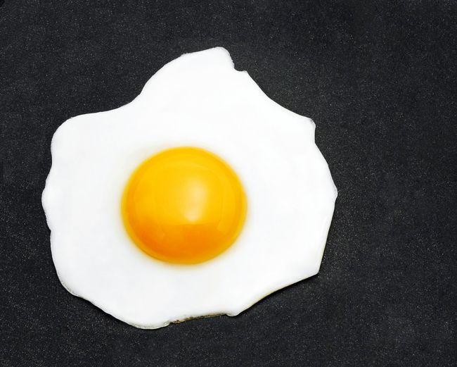 Directly above shot of lemon slice over white background