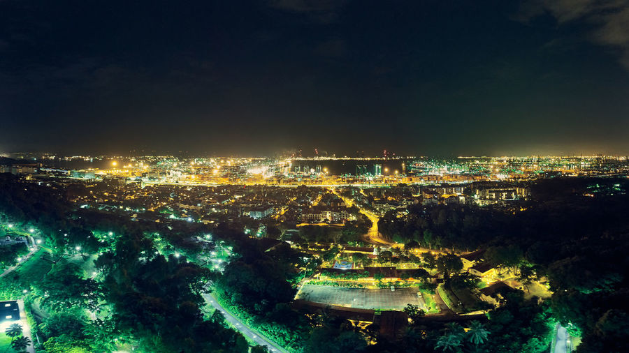 Building Exterior Architecture City Built Structure Cityscape Illuminated Sky Water Night Nature Building No People High Angle View Residential District Aerial View Outdoors City Life Park Harbour Long Exposure