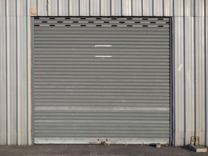 Closed shutter of gate