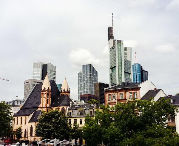 Frankfurt Am Main Home Sweet Home Mainhattan Skyscraper Skyline Gray Sky Gray Day Hibbdebach