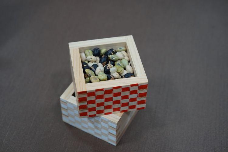 節分 Studio Shot Food Box - Container No People Japan 日本 Beans Close-up Indoors