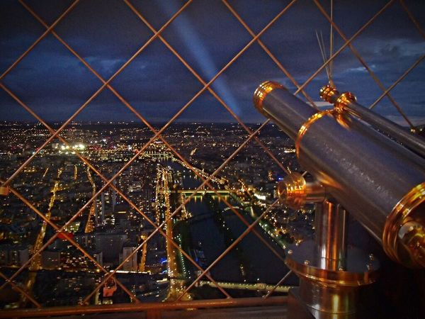 View From Above View From Eiffel Tower Eiffel Tower Paris France Cityscape Metal No People City Night Outdoors Sea Water Close-up Sky Architecture Flying High
