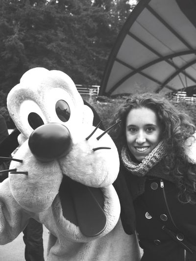 Welcome to Paradise Hello World Disneyland Paris Withmyfriend Ourchildhood Childhood Always&Forever<3 Blackandwhite B&w Nostalgia Happymoments Memories With Pluto Paris Wheniwasyoung People Photography People And Places Flying High Women Around The World Pet Portraits