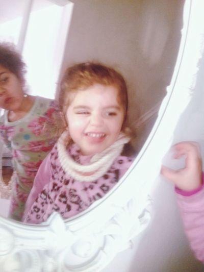 Funny Face Mirror Granddaughter Liyah