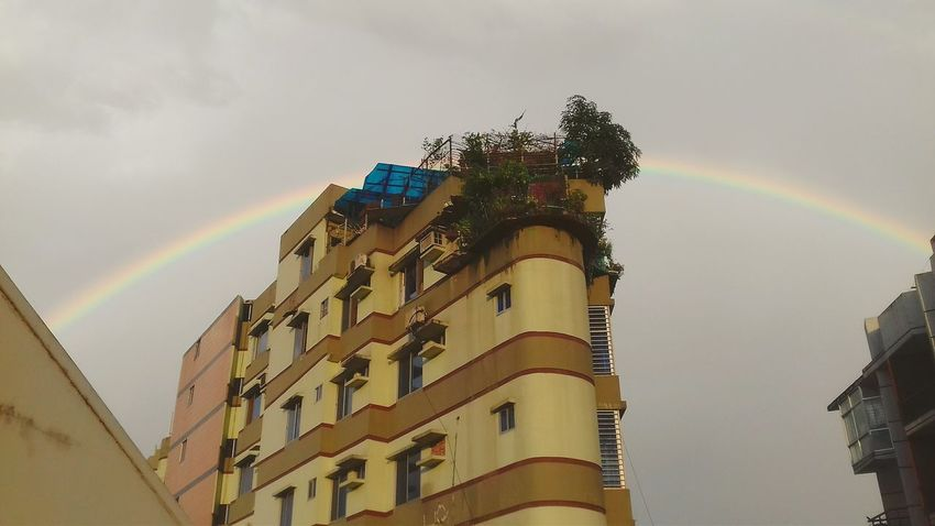 Rainbow Rainbow Colors Rainbow Sky Rainbows Rainbow <3 Sky Low Angle View Travel Destinations Outdoors No People Architecture City Galaxy Day Bangladesh In Colors Bangladeshgram