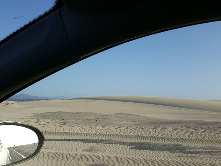 Clear Sky Outdoors Driving Driving In My Car Driving Along The Beach Beach Beach Corralejo Corralejo Corralejo, Fuerteventura In My Car Side-view Mirror Side Mirror Side Mirror Shot Side Mirror View Transportation Sunny Day Sunny Day At The Beach