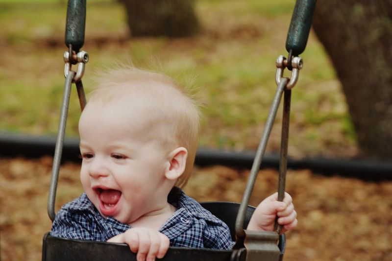 Child Playing Child Portrait Child Playground Swinging Swingset Smiling Face Smile ✌ Innocence Happy :)