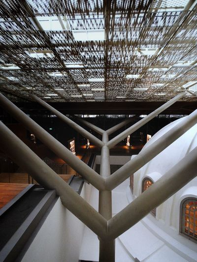 Pattern Pattern Singapore Architecture Indoors  Built Structure No People Ceiling Pattern Low Angle View Metal