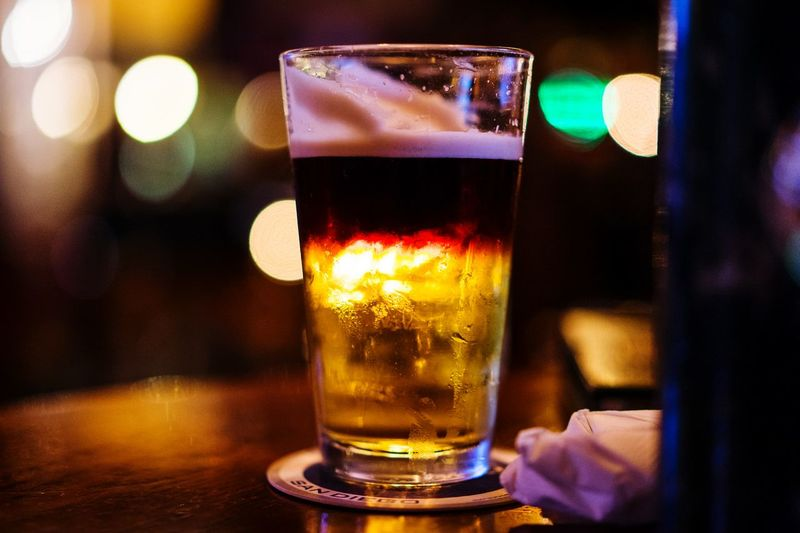 Glass Bokeh Photography Bokeh Beer Glass To Night >>> Night Nopeople Close-up Phuket,Thailand