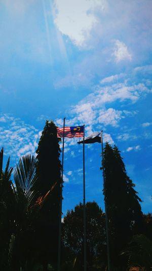 Flag Sky Cloud - Sky Low Angle View No People EyeEm Malaysia EyeEm Team Asus EyeEm Best Shots EyeEm Gallery Eyeem Photography Zenfonecam Asuszenfone AsusPixelMaster Zenfone Photography Asuszenfonemaxphotography Zenfonephotography Zenfoneglobal Zenfonemax Zenfonegraphy Zenfonemalaysia Portrait Photography EyeEmportrait Portrait Patriotism
