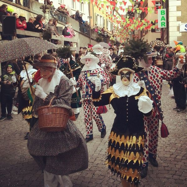 Adult Adults Only Carneval Celebration City Costume Day Lifestyles Mask Musical Instrument Outdoors Parade Parade Time People Real People Traditional Traditional Clothing