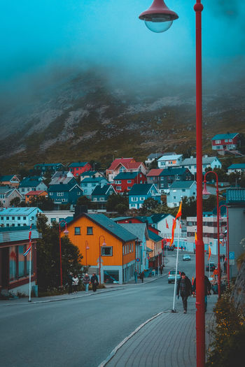 Cloudy Day Honningsvag Honningsvag Norway Cloud Sky Day No People Outdoors Small Town Town