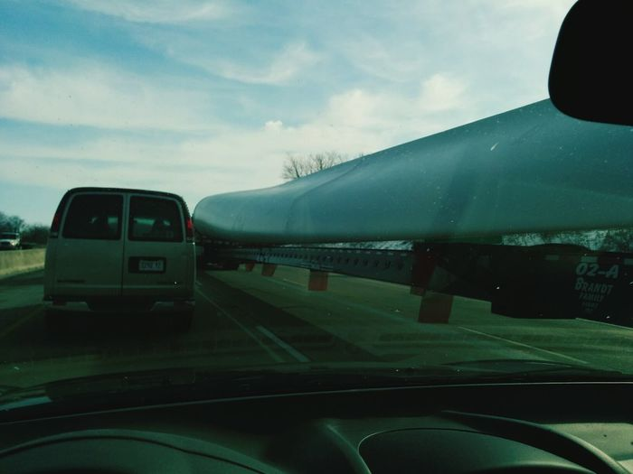 Windmill blade being moved to power America's future