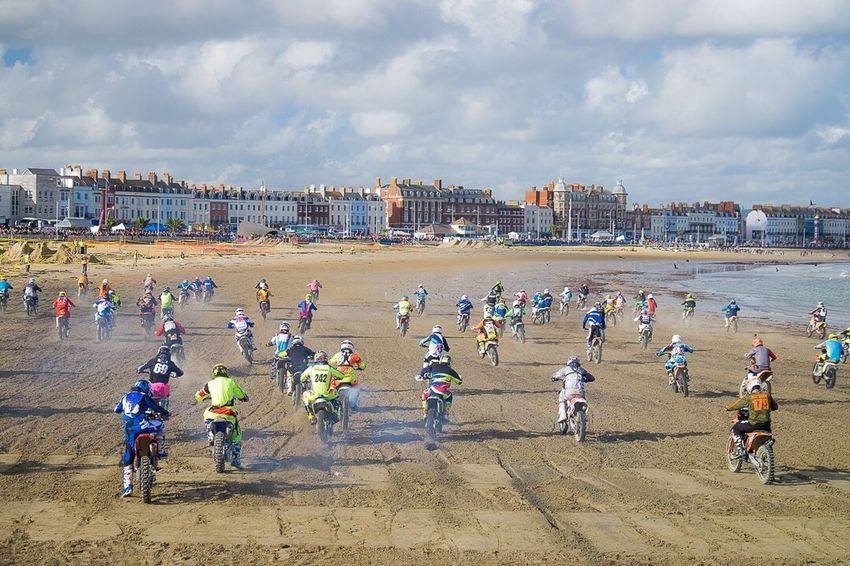 And they're off.... Weymouth Beach Weymouth Dorset Weymouth For Life Motorcross  Motorcross Fun Motorcross Meet Beach Sea Shore Dorset