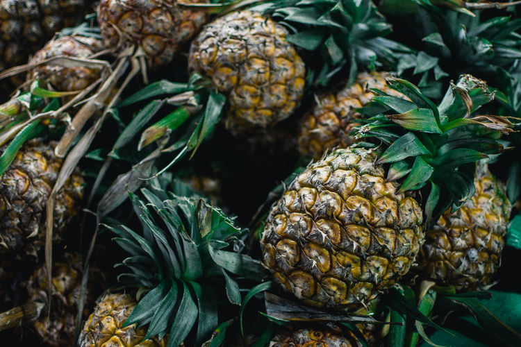 Pineapples on the market