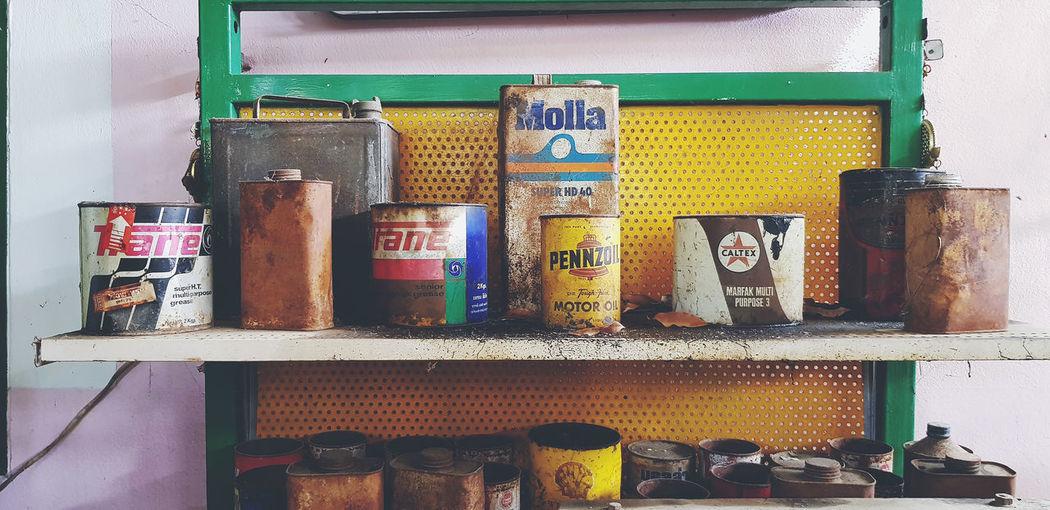 Graffiti on shelf at store