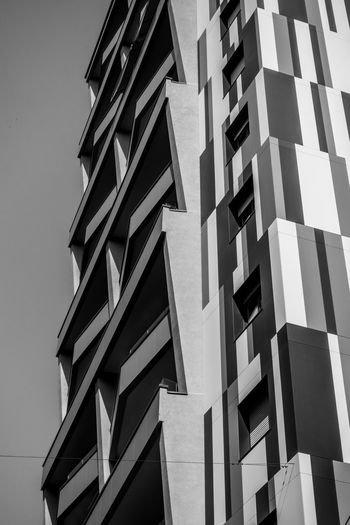 Built Structure Architecture Building Low Angle View Building Exterior No People Office Building Exterior Repetition Design Modern City Clear Sky