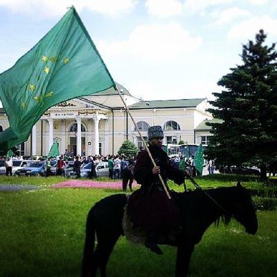 черкесия Кавказ Circassian Adyga adige cerces circassia Нальчик КБР лошадь всадник флаг