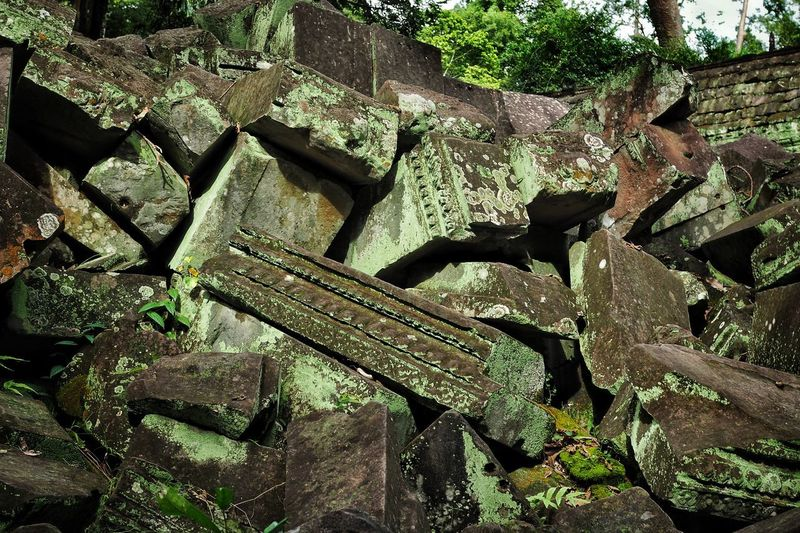 Temple down, Angkor, Cambodia Khmer Khmer Culture Khmer Architecture Khmer Temple Architecture Angkor Angkor Wat Angkor Thom Cambodia Temple Damaged No People Abandoned Day Outdoors Nature
