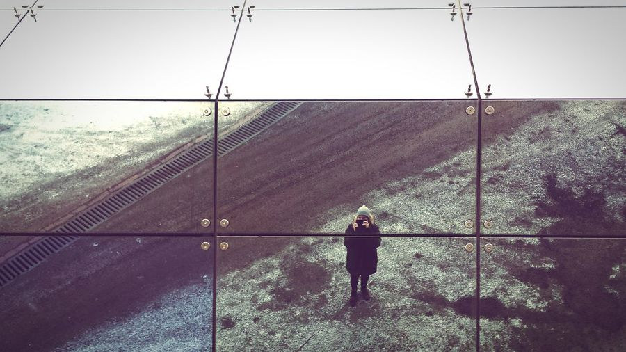 Woman standing on landscape
