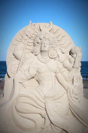 Sandsculpture Summer Festival Summer2018 Revere Art Ocean Nature Summerdays☀️ Canon Canonphotography Statue Beach Place Of Worship Sand Sculpture King - Royal Person Spirituality Religion Beauty Ancient