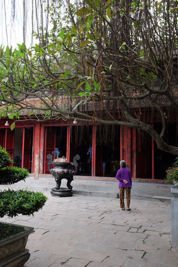 Lady Vietnam Vietnamese Architecture Day Old Person Outdoors