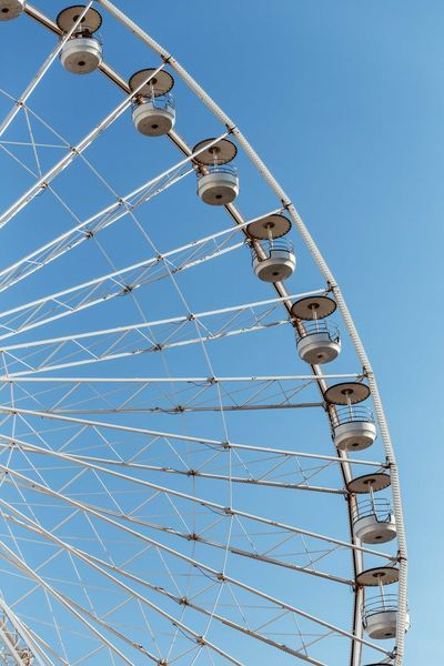 Marseille Marseille, France Riesenrad Amusement Park Arts Culture And Entertainment Big Wheel Blue Clear Sky Day Fairy Wheel Fairywheel Ferris Wheel Historcal Low Angle View No People Outdoors Sky Vieux Port Vieux Port De Marseille