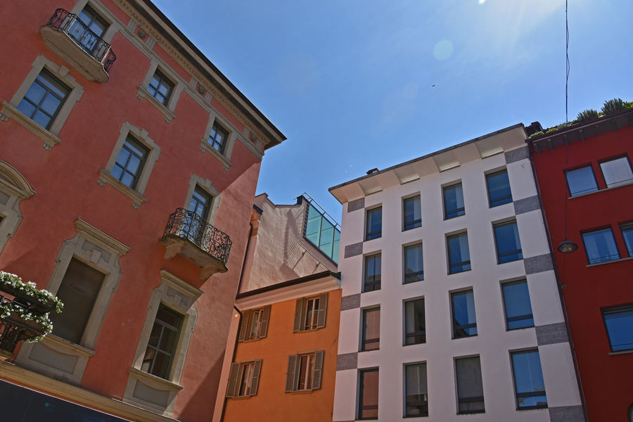 Architecture Building Building Exterior City No People Outdoors Sky The Architect - 2016 EyeEm Awards Lugano, Switzerland Lugano Pura, Switzerland Old And New Architecture Fine Art Photography Home Is Where The Art Is Colour Of Life Battle Of The Cities The Graphic City