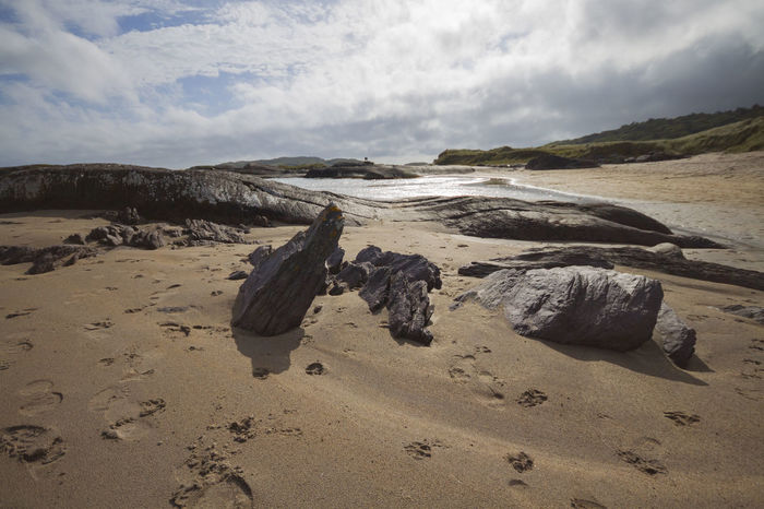 EyeEmNewHere Ireland Ireland Landscapes Beach Beauty In Nature Cloud - Sky Connemara Day Ireland Lovers Landscape Nature No People Outdoors Sand Scenics Sky Tranquility