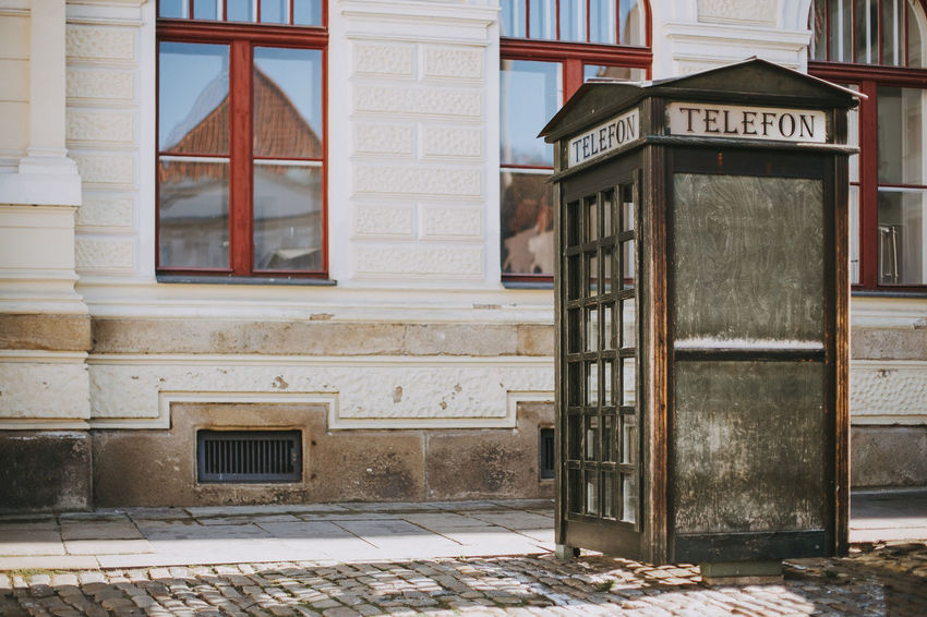 Czech Republic Architecture Building Exterior Built Structure City Door Europe Footpath Street Telephone Booth Tourism Český Krumlov