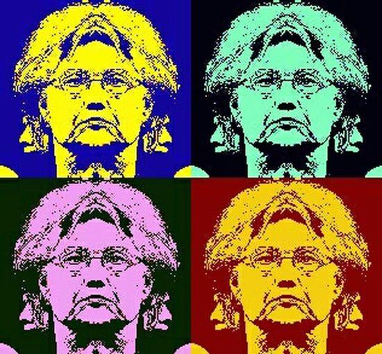 Mirror Image Mirror Effect Mirror Picture Showcase: February Not Instagram Portrait Of A Woman Hillary Hillary Clinton Pop Art Politics Election Democrat