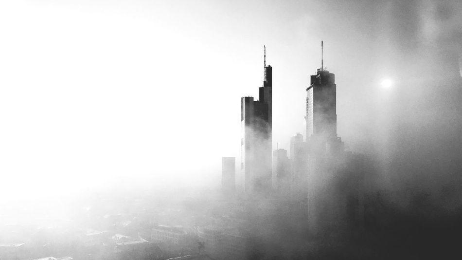 Fog Architecture Built Structure Frankfurt Skyscraper