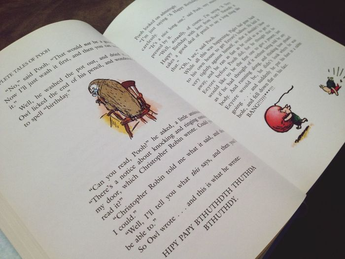 Taking Photos Goodmorning Books Photography Winnie The Pooh  Reading Nostalgia