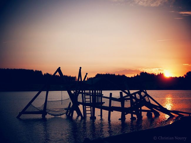 Sunsetake view] Lake Summer Views Water Light And Shadow Warm Water_collection Sunset_collection