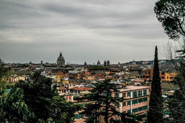 Rome - March 2015 Grey Clouds Cathedral Europe Italy Rome Architecture Sky Building Exterior Built Structure Tree Cloud - Sky No People Day Cityscape City Outdoors