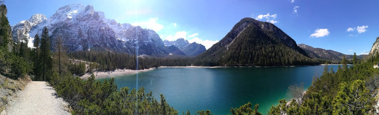 Tree Outdoors Sky Nature Mountain No People Water Braies Lake Italy🇮🇹 Lakeside Alto Adige Tree Lake Nature