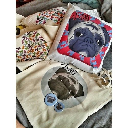 Pug Pugs Etsy Shop Only Frenchzone Gtcompany Bullyfun Pillow Shoppibgbag Bag Badge