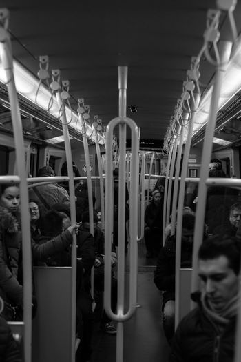 Subway Train. Public Transportation Rail Transportation Real People Subway Train The Street Photographer - 2017 EyeEm Awards Train - Vehicle Transportation Vehicle Seat