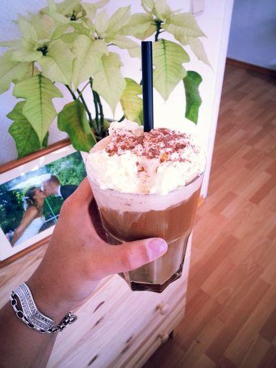 My first ice coffee for 2015! Letthesummerbegin Icecoffeelatte Stracciatella Jummy